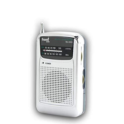 SAMI-RS2913 Radio analógica SAMI de Bolsillo de 2 Bandas FM/Am recepción Antena telescópica....