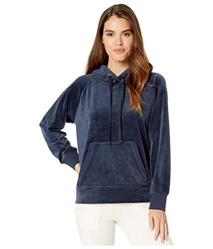 Juicy Couture Track Luxe Velour Hooded Pullover Regal PT/XS (US 0)