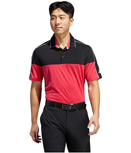 adidas Ultimate365 Striped Polo, Black/Power Pink, XL para Hombre