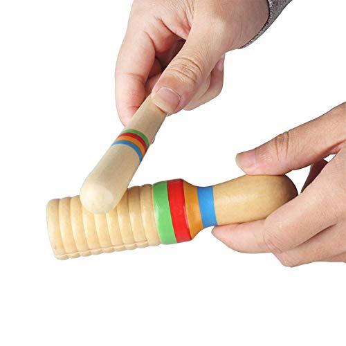 U/K Interessantes Spielzeug Klopfspielzeug Kinder Kinder Holzklang Musikalisches Klopfen PerSchlaginstrument Spielzeug Spielzeug für alle Altersgruppen tragbar und nützlichlanglebig