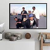 MZCYL Leinwand Malerei Wandkunst Bild NWA Hip Hop Musik Rap