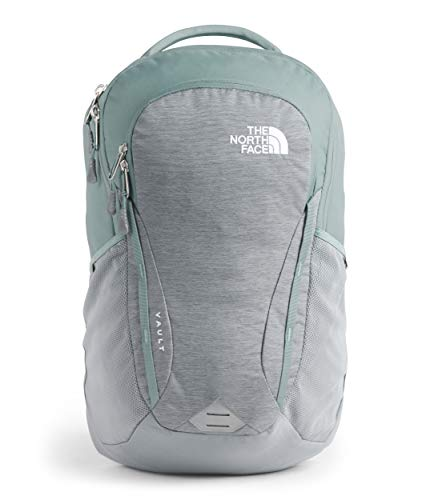 The North Face Women#039s Vault Backpack Mid Grey Light Heather/Trellis Green One Size