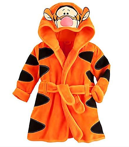 Inception Pro Infinite - Größe 90 - 1/2 Jahre - Tiger - Orange - Morgenmantel - Tiger - Bademantel - Für Schlafzimmer - Nacht - Schlafanzug - Junge - Weiches Fleece - Mit Kapuze - Charaktere