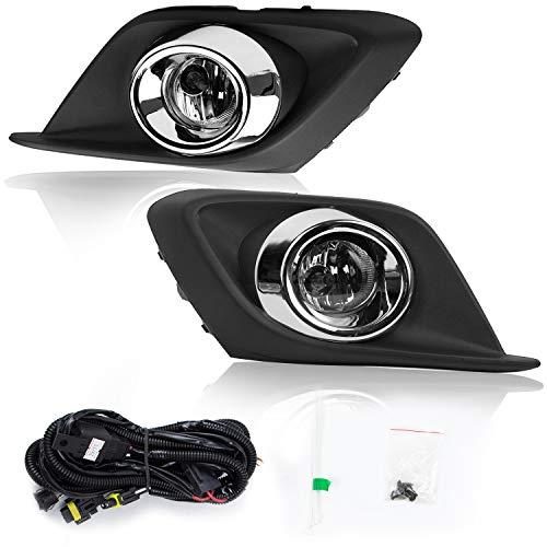RP Remarkable Power, FL7071 Fit For 2014-2016 MZ 3 Fog Lights Clear Lens Bumper Lamps Kit