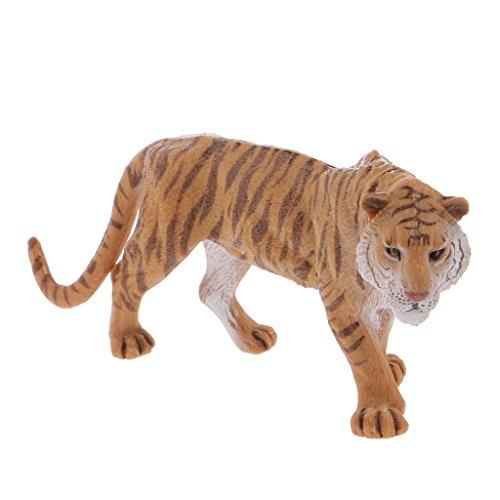 Sharplace Tigre de Plástico Salvaje Zoológico Animal Estatuilla Modelo Colección Juguete Niños