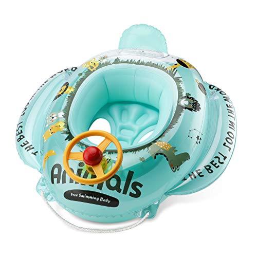 Free Swimming Baby 浮き輪 ベビー 足入れ 水遊び 子供 ベビーボート 水泳 プール 海用 ハンドル付 車の形 ...