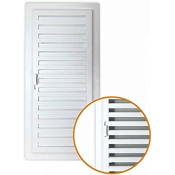 Rejilla de aire de aluminio blanco blanco doble fila de solapas giratorias