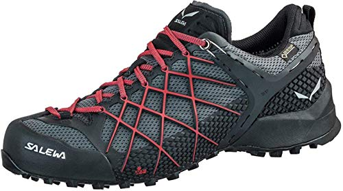 Salewa Herren MS Wildfire Gore-TEX Trekking- & Wanderhalbschuhe, Black Out/Bergot, 44.5 EU