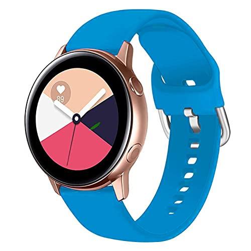 LLKHFA Correa de silicona para reloj Samsung Galaxy Watch 42 mm Active2 40/44 mm suave para reloj deportivo Samsung S2 Classic (color de la correa: color 15, ancho de la correa: para Amazfit Bip)