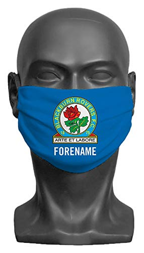 Personalised Blackburn Rovers FC Crest Adult Face Mask- Large