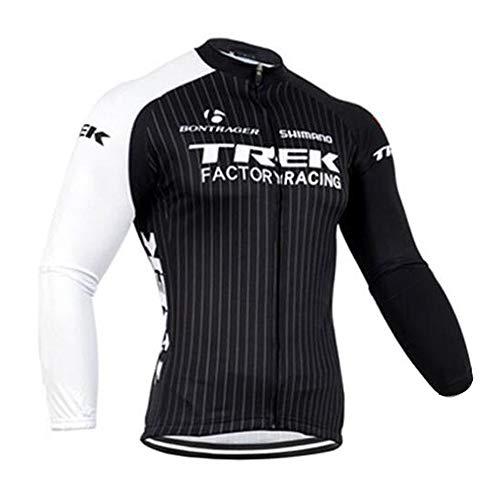 ADKE Homme Maillot de Cyclisme Manches Longues, Automne Long Manches Vêtement Cycliste Veste Vélo