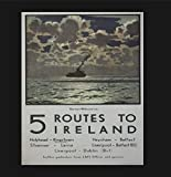 VinMea Placa de madera para colgar en la pared, diseño de 5 rutas a Irlanda