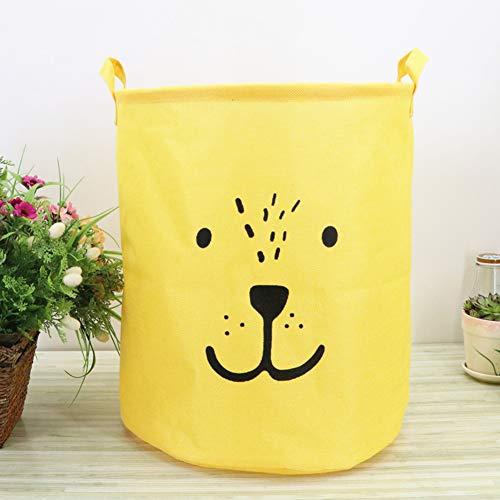 Cesto amarillo para la ropa plegable resistente al agua
