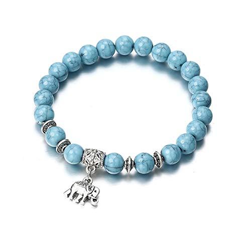 PmseK Pulsera de Moda,Pulsera de Curación Luxury Bracelet Classic Acrylic Blue Beaded Bracelets For Men Women Best Friend Hot Popular A56 ns44