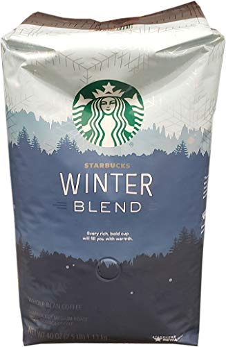 Starbucks Winter Blend Whole Bean Coffee, 40 Oz