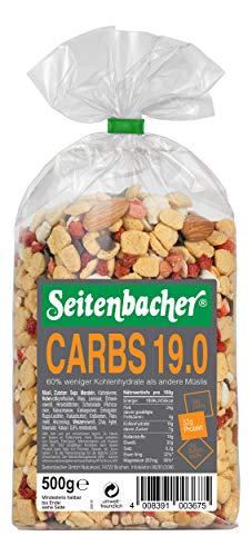 Seitenbacher Müsli Low Carb 19.0 Erdbeer, 1er Pack (1 x 0.5 kg)