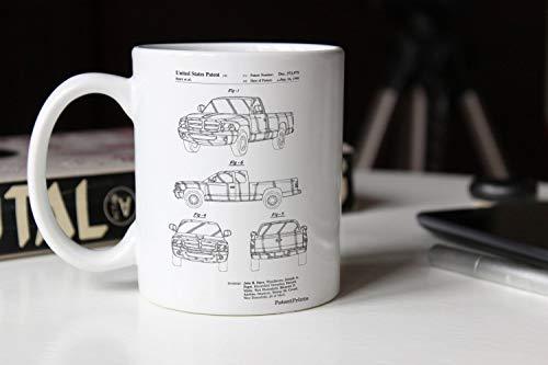 Alicert5II Dodge Ram 1997 Patent Mug Dodge Truck Auto Enthousiast Truck Mug Mann H?hle Teen Boy Room Decor PP0481
