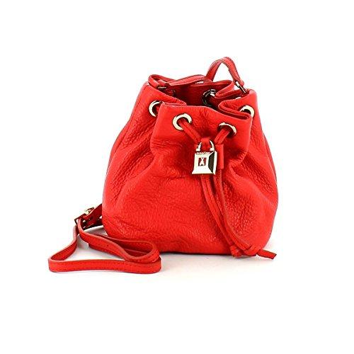 PATRIZIA PEPE Lock Fly Mini Bag Beuteltasche Leder 15 cm