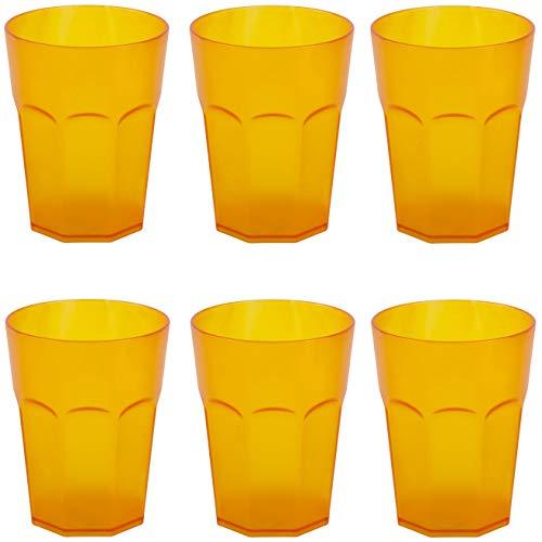 ENGELLAND 6 vasos de plástico para fiestas, vasos de plástico, reutilizables, color...
