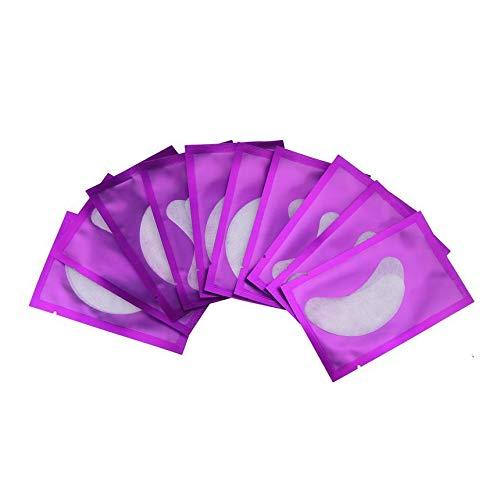 Confortable femmes naturelles sous les coussinets pour les yeux patchs anti-rides cercle sombre supprimer les patchs pour les yeux pad masque outil de maquillage - blanc 10 paire