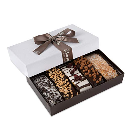 Barnett's Gourmet Chocolate Biscotti Favors Gift Box Sample, Christmas Holiday Cookie Gifts, Unique...