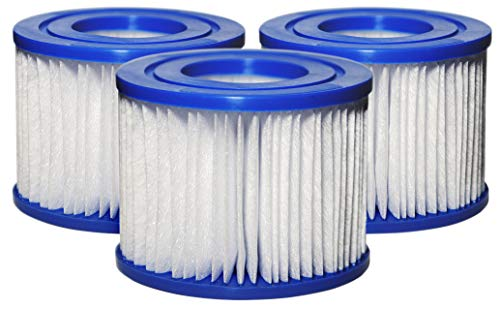 SUNSET FILTERS Type VI Spa Filter Replacement Cartridge - for SaluSpa, Lay-Z-Spa (3-Pack)