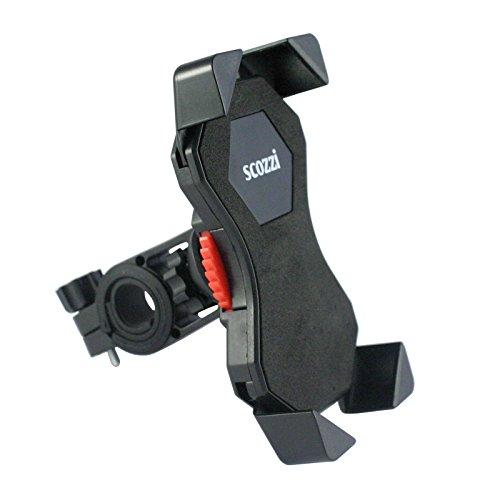 scozzi Universal 360° Handyhalterung Fahrrad Handy Halterung Halter (zB kompatibel mit Samsung & iPhone) S20 S10 S9 S8 A71 A70 A51 A50 A40 A30s M40 M30 M20 A7 A5 11 X XS XR 8 7 6S Plus Ultra Max Pro