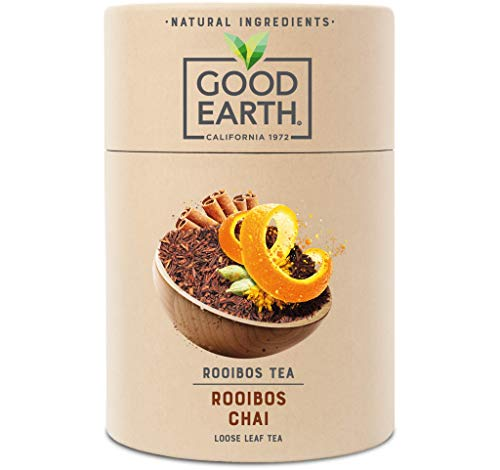 Good Earth - Rooibos Chai Loose Leaf Tea - Naturally Caffeine Free – Herbal Tea - 80g Box