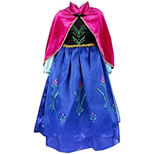 ELSA & ANNA UK Girls Party Outfit Fancy Dress Snow Queen Princess Halloween Costume Cosplay Dress (2-3 years, UK-SEP308):Iracematravel