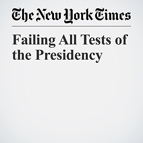Failing All Tests of the Presidency copertina