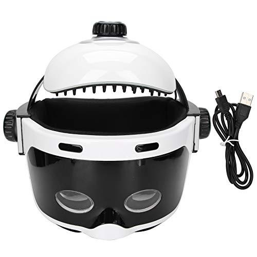 1 unidad de masajeador de cabeza eléctrico de tejido profundo, rascador de músculos, masajeador Shiatsu con Cable USB para aliviar el estrés del dolor de cabeza