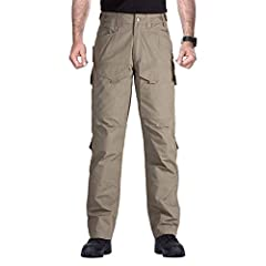 MATERIAL: 35% Cotton/65% Polyester FEATURES: DuPont teflon fabric make the tactical pants for men effectively repels stains and liquids. Fade, shrink and wrinkle-resistant. Fitness, scratch-resistant, wear-resistant and durable. FUNCTIONAL POCKETS: T...