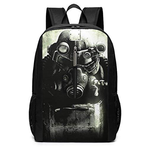 BAGGNICE Rucksäcke Daypacks Taschen, Fallout 3 Brotherhood of Steel Fallout 17 Inch School Bag Backpack College Bag Laptop Backpack Large Capacity Backpack (Black)