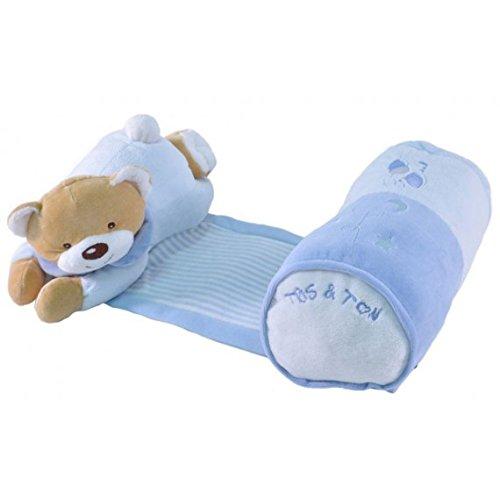 Tris & Ton - Cojín Siesta Musical para bebé recién Nacido. Suave y Agradable al Tacto. (Celeste)