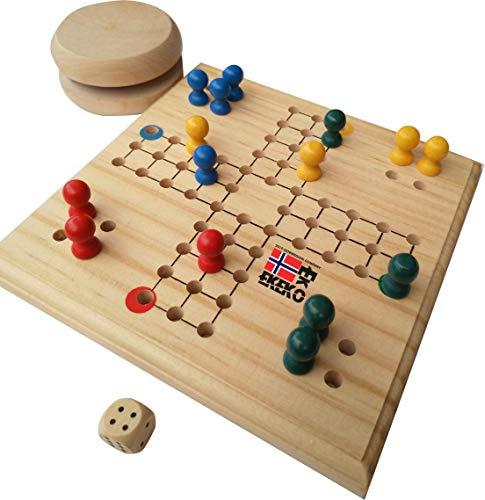 Set Ekeko Parchis+, Pack de 2 Juegos de Madera Mini, Parchis y...