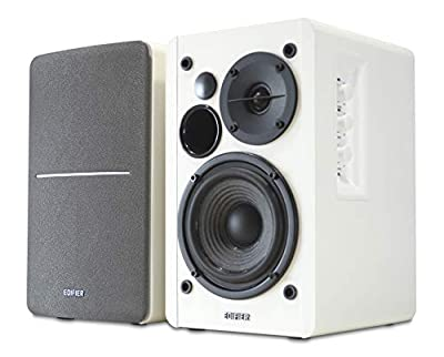 White Edifier R1280T Active Bookshelf Speaker System with Remote Control and Dual RCA Inputs from Edifier