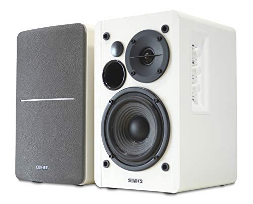 Edifier White R1280T Active Bookshelf Speaker System with Remote Control...