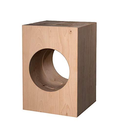 Eckkonsole, natürliche, einzigartige Form, einfacher, moderner, quadratischer Beistelltisch aus Holz für Zuhause und Büro, kleiner Aufbewahrungstisch, holz, natur, 40x40x42cm