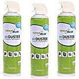GreenBlue GB600 Air Duster 3x600ml Nettoyage atomiseur spray nettoyant pour air...