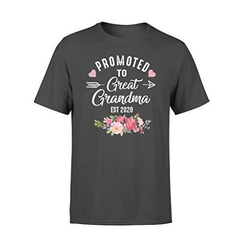 Vinsaco Disfraz para mujer con texto en ingls 'Promoted to Great Grandma Est' 2020