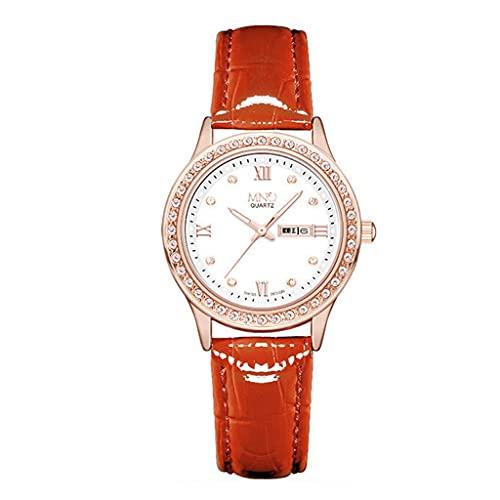 Lvmiao New female temperament watches, simple trendy watches, waterproof belt quartz watches, high-end niche light luxury quartz watches,3