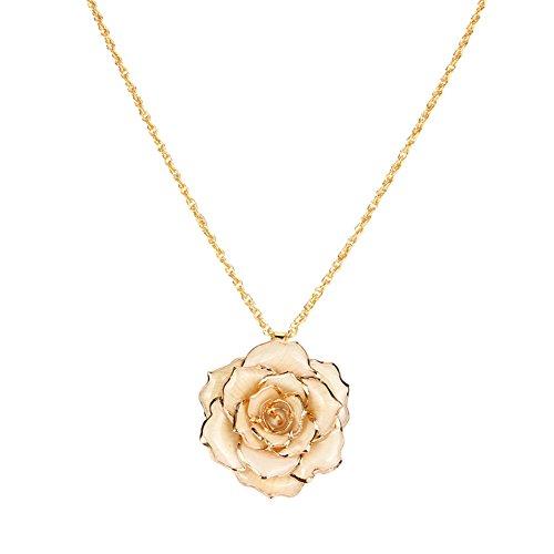 Jopwkuin Accesorio para Vestir, Collar Dorado de Oro de 24 k, Collar de joyería para Mujer para cumpleaños