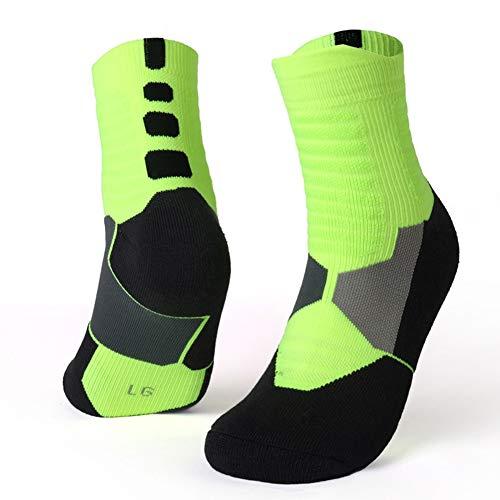 LLZY Los nuevos Hombres térmicas Calcetines Deportivos de Ciclo al Aire Libre Funcionamiento del Baloncesto Senderos de Invierno Basket Tenis Deportes Antideslizantes Calcetines de algodón