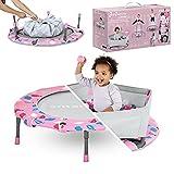 smarTrike Indoor-Kleinkindertrampolin mit Handgriff, faltbares Kindertrampolin, 1-5 Jahre (Bällebad und Trampolin, Rosa)