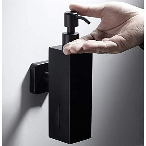 KEKEYANG automático Acero inoxidable 304 dispensador de jabón de acero inoxidable Negro del jabón líquido del fregadero de cocina jabón de baño de contenedores champú caja montada en la pared de la bo