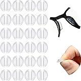 Naselli Adesivi per Airbag Naselli per Occhiali Naselli Antiscivolo Naselli Comodi per Camera d'Aria 3,5 mm/ 0,4 Pollici Spessore per Occhiali da Sole a Montatura Intera (24 Paia)