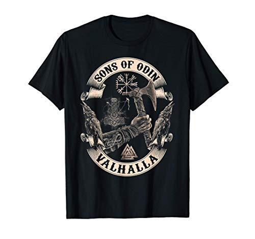 VIKINGS RISE-SONS OF ODIN- Valhalla Vikings Norse V2 T-Shirt