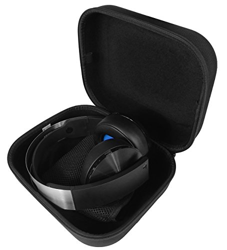 Casematix Gaming Headset Case Compatible with PS5 Pulse 3D Wireless Headset, Platinum Wireless Playstation Headset for PS4, Dongle, Cables and More
