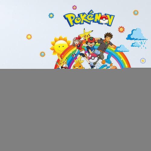 Pokemon 3D Pegatinas de la pared de la historieta 3D Pegatinas creativas tridimensionales 50 cm * 70 cm