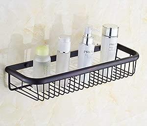 Udane Exquisite Shelf Bathroom Supplies Toilet and Bathroom Oil Rubbed Bronze Wall Mount Storage and Holder for Bathroom Shower Brass Shelf 45cm